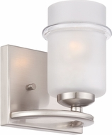 Designers Fountain 86601-SP Omega Modern Satin Platinum Lighting Wall Sconce