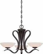 Designers Fountain 86783-ORB Galena Oil Rubbed Bronze Halogen Mini Hanging Chandelier