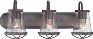 Designers Fountain 87003-WI Darby Weathered Iron 3-Light Vanity Lighting