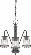 Designers Fountain 87083-WI Darby Weathered Iron Mini Chandelier Lamp