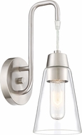 Designers Fountain 87801-SP Echo Contemporary Satin Platinum Lighting Sconce