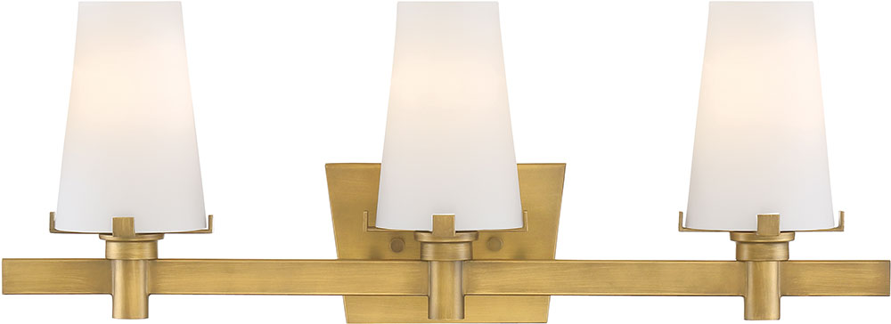 Designers fountain 87903 vtg hyde park modern vintage gold for Gold bathroom wall lights