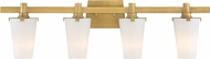 Designers Fountain 87904-VTG Hyde Park Contemporary Vintage Gold 4-Light Bath Wall Sconce