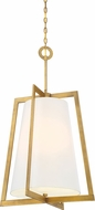 Designers Fountain 87954-VTG Hyde Park Modern Vintage Gold 21  Foyer Lighting Fixture