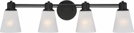 Designers Fountain 88004-ORB Printers Row Oil Rubbed Bronze 4-Light Bathroom Sconce Lighting