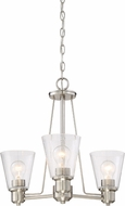 Designers Fountain 88083-SP Printers Row Satin Platinum Mini Lighting Chandelier