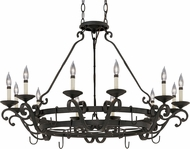 Designers Fountain 9031-NI Barcelona Natural Iron Ceiling Chandelier