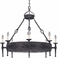 Designers Fountain 9185-NI Alhambra Natural Iron Chandelier Lighting