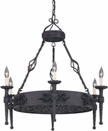 Designers Fountain 9186-NI Alhambra Natural Iron Lighting Chandelier