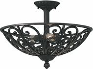Designers Fountain 9192-NI Alhambra Natural Iron Overhead Lighting Fixture