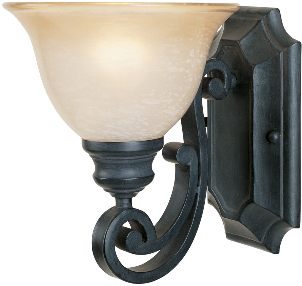 Iron Wall Sconces Lighting : Designers Fountain 96101-NI Barcelona Natural Iron Wall Light Sconce - DSF-96101-NI