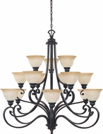 Designers Fountain 961815-NI Barcelona Natural Iron Chandelier Lamp