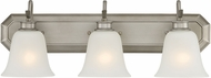 Designers Fountain 96903-MTP Montego Matte Pewter 3-Light Bathroom Sconce