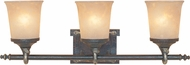 Designers Fountain 97303-WSD Austin Weathered Saddle 3-Light Bathroom Wall Sconce