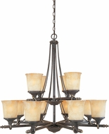 Designers Fountain 973812-WSD Austin Weathered Saddle Hanging Chandelier