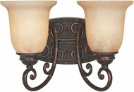 Designers Fountain 97502-BU Amherst Burnt Umber 2-Light Bath Wall Sconce
