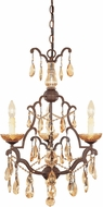 Designers Fountain 98383-VBR Bollo Venetian Bronze Mini Chandelier Lamp