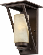 Designers Fountain ES31921-FBZ Parkview Flemish Bronze Fluorescent Exterior Wall Sconce Light