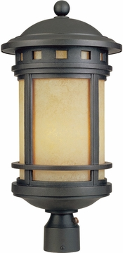 Designers Fountain FL2396-AM-ORB Sedona Oil Rubbed Bronze Fluorescent Exterior Lamp Post Light