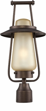 Designers Fountain FL32036-FBZ Stonyridge Flemish Bronze Fluorescent Outdoor Post Light Fixture