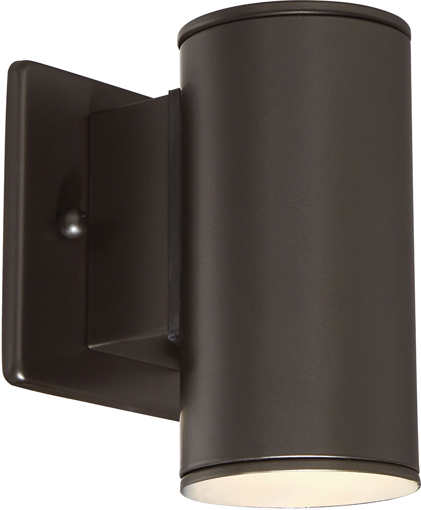 Modern Bronze Wall Sconces : Designers Fountain LED33001-ORB Barrow Modern Oil Rubbed Bronze LED Outdoor Lighting Wall Sconce ...