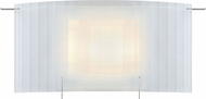 Designers Fountain LED6040-35 Flute Contemporary Brushed Nickel LED Wall Lamp