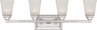 Designers Fountain LED67804-SP Trenton Satin Platinum LED 4-Light Bathroom Lighting Fixture