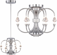 Designers Fountain LED85911-CH Galaxy Chrome LED Ceiling Lighting Fixture / Lighting Pendant