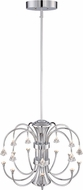Designers Fountain LED85989-CH Galaxy Chrome LED Lighting Chandelier