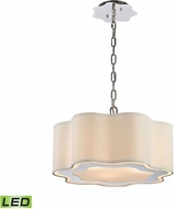 Dimond 1140-018-LED Villoy Polished Stainless Steel / Polished Nickel LED Pendant Lighting