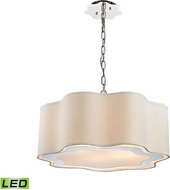 Dimond 1140-019-LED Villoy Polished Stainless Steel / Polished Nickel LED Pendant Light