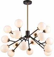 Dimond 1140-067 Levity Contemporary Satin Brass and Oiled Bronze Halogen Chandelier Light