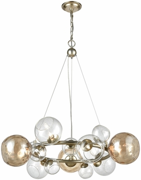 Dimond 1141-025 Bubbles Contemporary Silver Leaf Champagne Halogen Lighting Chandelier