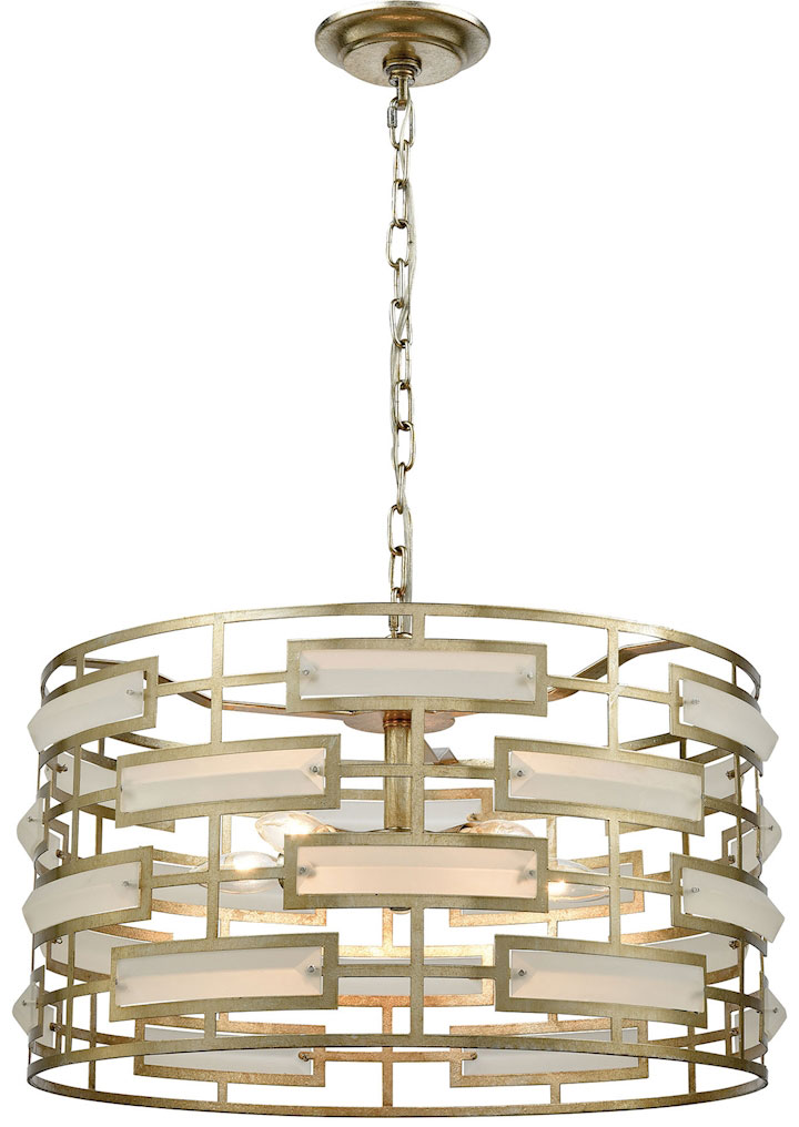 Dimond 1141-030 Metro Silver Leaf Acid Crystal Drum Pendant Lighting. Loading zoom  sc 1 st  Affordable L&s & Dimond 1141-030 Metro Silver Leaf Acid Crystal Drum Pendant ... azcodes.com