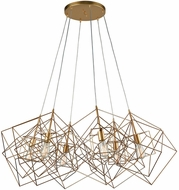 Dimond 1141-032 Box Contemporary Gold Leaf Ceiling Chandelier