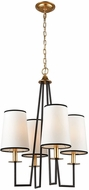 Dimond 1141-060 On Strand Modern Oiled Bronze With Gold Leaf Mini Chandelier Lighting