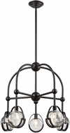 Dimond 1141-062 Focal Point Modern Oil Rubbed Bronze With Clear Crystal Chandelier Lamp