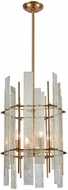 Dimond 1141-066 Mercury Ascendant Modern Aged Brass With Mercury Glass Foyer Lighting