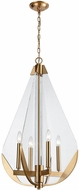 Dimond 1141-069 Vapor Cone Contemporary Aged Brass With Clear Acrylic Mini Chandelier Light