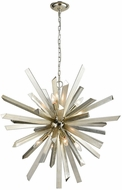 Dimond 1141-073 Cataclysm Contemporary Silver Leaf Lighting Chandelier