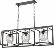 Dimond 1141-075 Beam Cage Contemporary Oil Rubbed Bronze With Clear Glass Kitchen Island Lighting