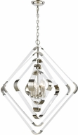 Dimond 1141-079 Rapid Pulse Contemporary Polished Nickel With Clear Acrylic Ceiling Chandelier