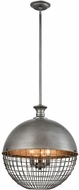 Dimond 1141-081 Juggernaut Contemporary Brushed Slate Pendant Lighting Fixture