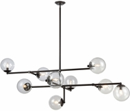 Dimond 1141-083 Communique Contemporary Oiled Bronze With Clear Glass Chandelier Light