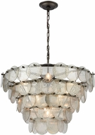 Dimond 1141-084 Airesse Modern Brushed Slate With Mercury Glass Hanging Pendant Lighting