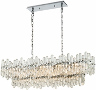 Dimond 1141-087 Icy Reception Contemporary Chrome With Clear Glass Kitchen Island Light