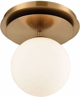 Dimond 1141-089 Picfair Modern Aged Brass With White Glass Ceiling Lighting