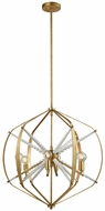 Dimond 1142-012 Mercury Contemporary Antique Gold Leaf Lighting Pendant