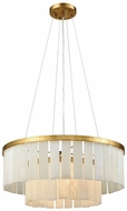 Dimond 1142-013 Orchestra Modern Gold Leaf Drum Pendant Lamp