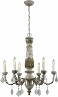 Dimond 1202-005 Genevi�ve Traditional Aged Cream / Iron Chandelier Lighting